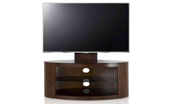 Tnw Munich Tv Stand With Bracket For Up To 50 Inch Tvs Walnut And Black